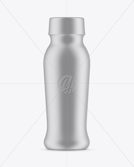 Plastic Bottle In Matte Shrink Sleeve Mockup