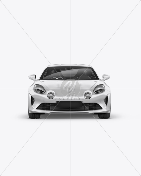 Alpine A110 Mockup - Front View