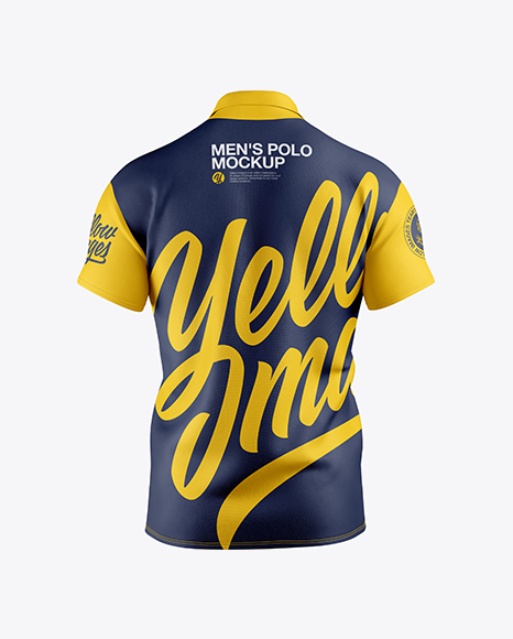 Download Mens Polo Hq Mockup Front View Yellowimages