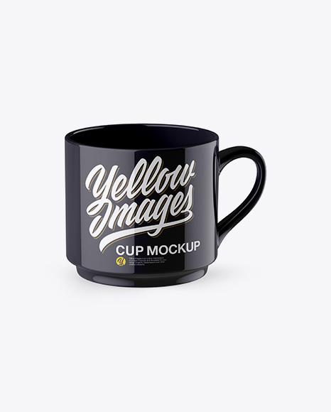 Download Glossy Cup Mockup - High-Angle Shot Object Mockups