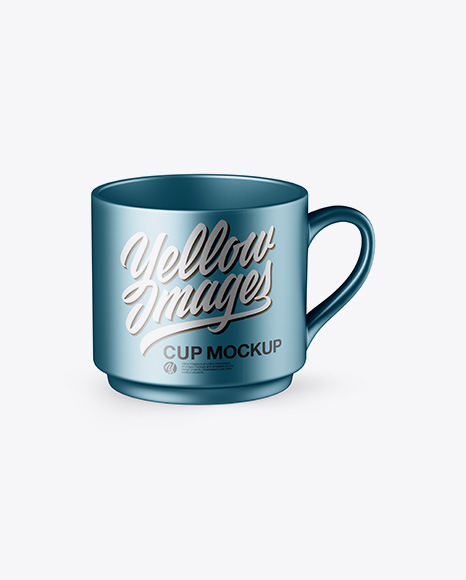 Download Free Matte Metallic Cup Mockup - High Angle PSD Template