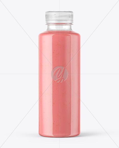 Strawberry Smoothie Bottle Mockup