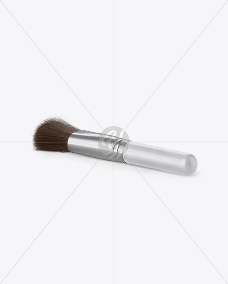 Powder Brush Mockup - Half Side View