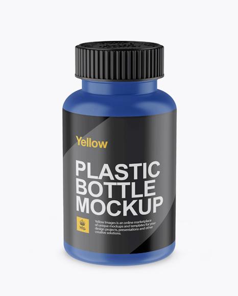 Matte Pill Bottle Mockup (High-Angle Shot)