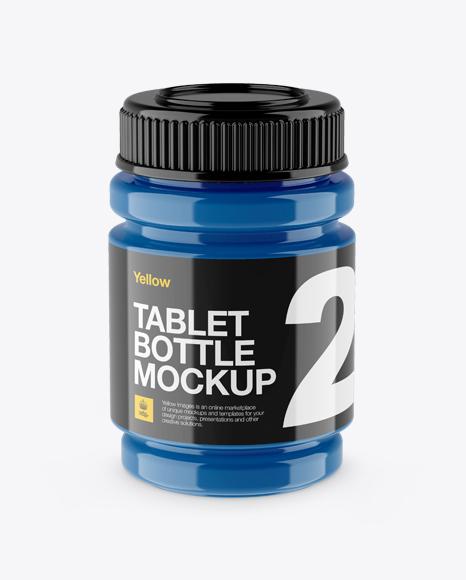 Glossy Sport Bottle Mockup High Angle Shot