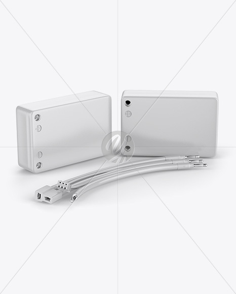 5000mAh 2S Lithium Polymer Battery in Hard Case Mockup - Half Side View