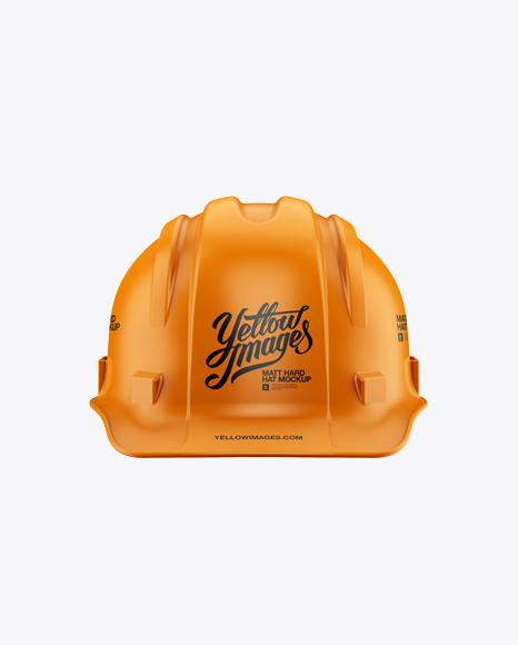 Matte Hard Hat Mockup - Front View