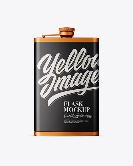 Download Steel Flask Mockup Front View PSD - Free PSD Mockup Templates