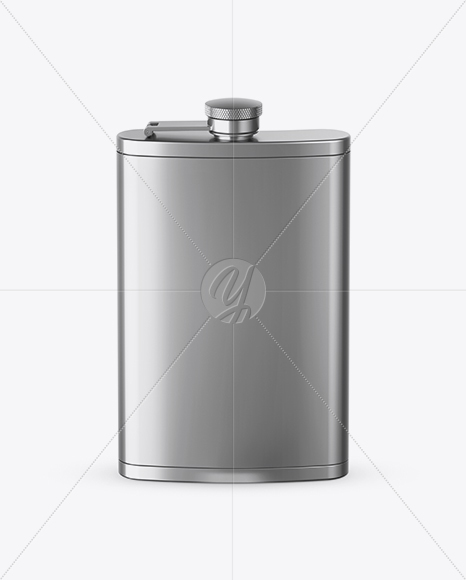 Steel Flask Mockup (High-Angle Shot)