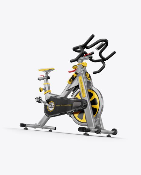 Download Exercise Bike Mockup - Half Side View Object Mockups