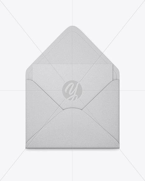 Opened Kraft Envelope With List Mockup