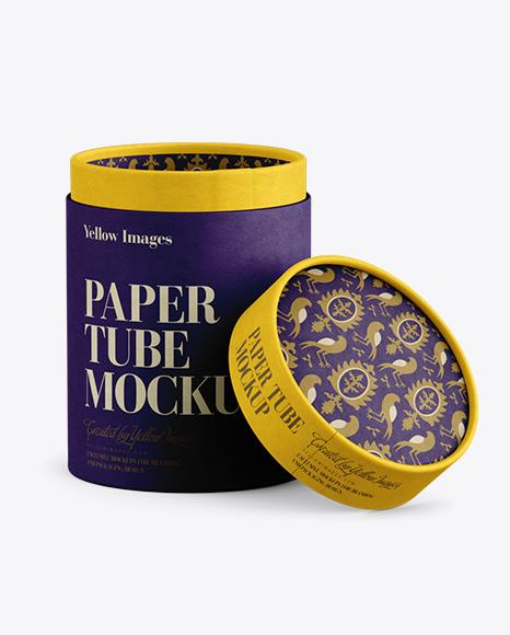 Download Opened Paper Tube Mockup Object Mockups