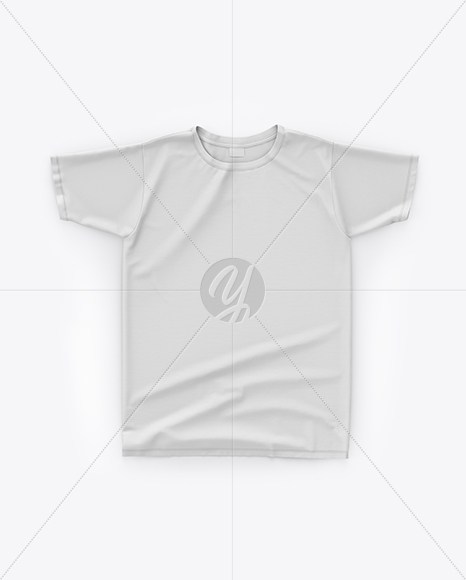 Download T Shirt Mockup Top View In Apparel Mockups On Yellow Images Object Mockups Yellowimages Mockups
