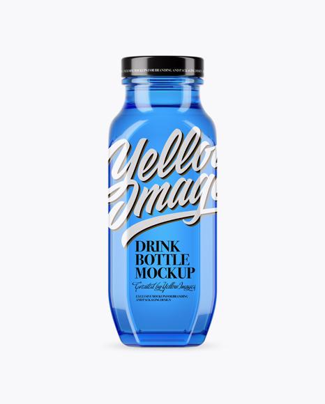Download Blue Glass Drink Bottle Mockup Object Mockups