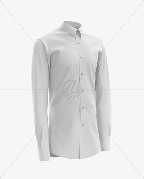 Men's Dress Shirt mockup (Right Half Side View)
