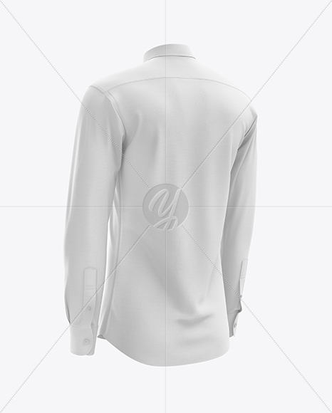Men's Dress Shirt mockup (Back Half Side View)