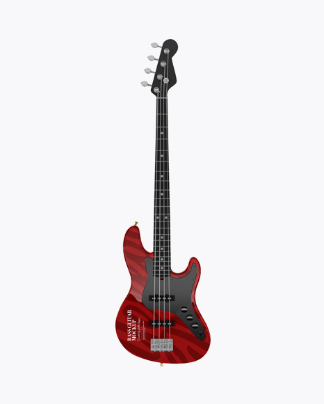 Download Bass Guitar Mockup - Front View Object Mockups