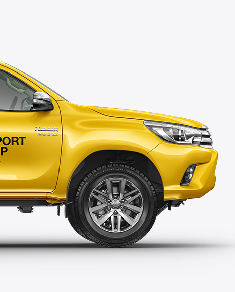 Download Toyota Hilux Mockup - Side View Object Mockups