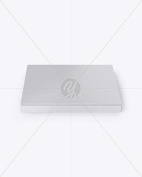 Paper Box Mockup - Front View (High Angle Shot)