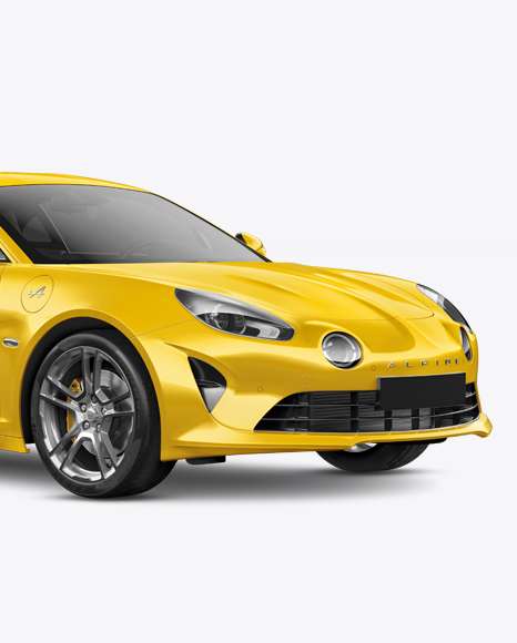 Download Free Alpine A110 Mockup - Half Side View PSD Template