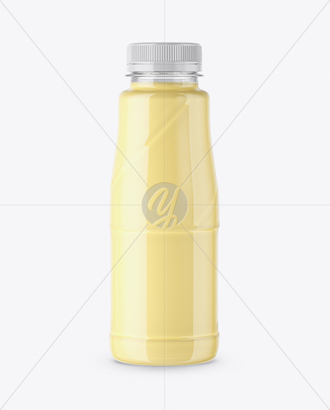 360ml Plastic Bottle with Mango Cocktail Mockup