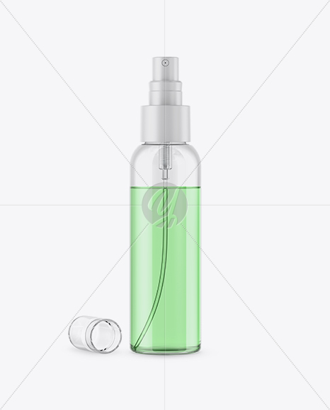 Download Plastic Spray Bottle With Liquid Mockup PSD - Free PSD Mockup Templates