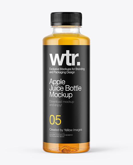 Red Apple Juice Bottle Mockup