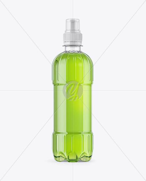 Plastic Bottle with Sport Cap Mockup