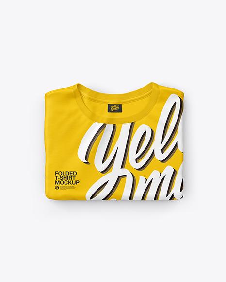 Folded T-Shirt Mockup - Top View