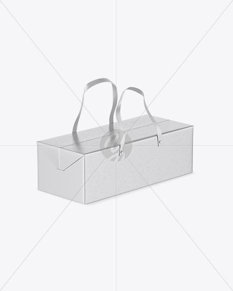 Download Glossy Carton Box With Handle Mockup Frotn View High Angle Shot PSD - Free PSD Mockup Templates