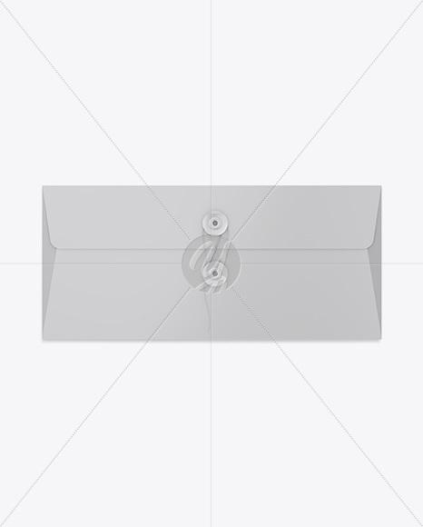 Paper Envelope With String Closure Mockup