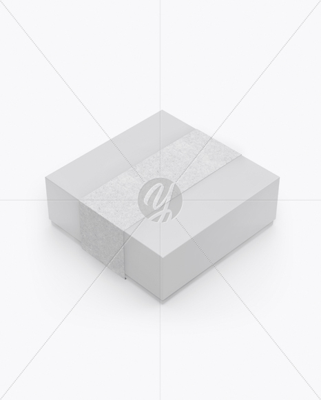 Download Glossy Box With Label Mockup Half Side View High Angle Shot In Box Mockups On Yellow Images Object Mockups PSD Mockup Templates
