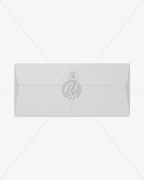 Textured Envelope With String Closure Mockup
