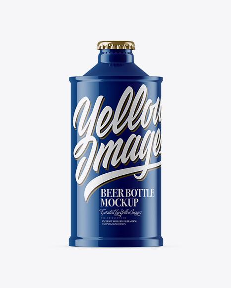 Download Glossy Vintage Beer Bottle Mockup Object Mockups