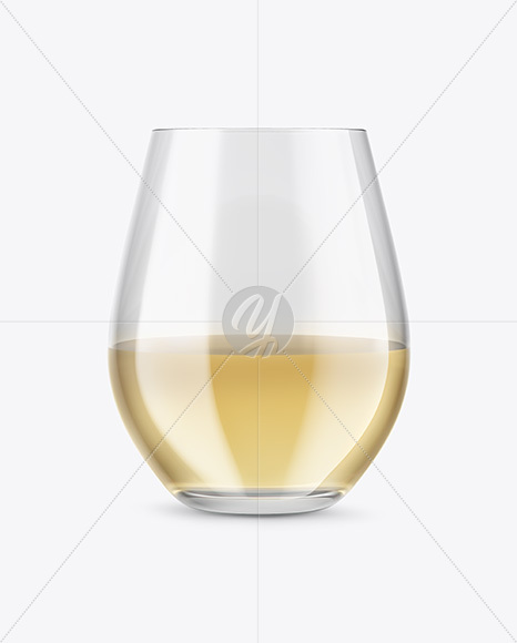 White Wine Glass Mockup