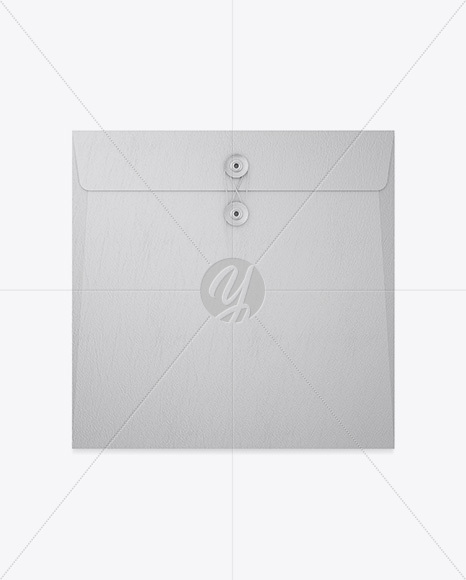 Leather Envelope With String Closure Mockup
