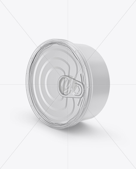 Tin Can Mockup - Half Side View