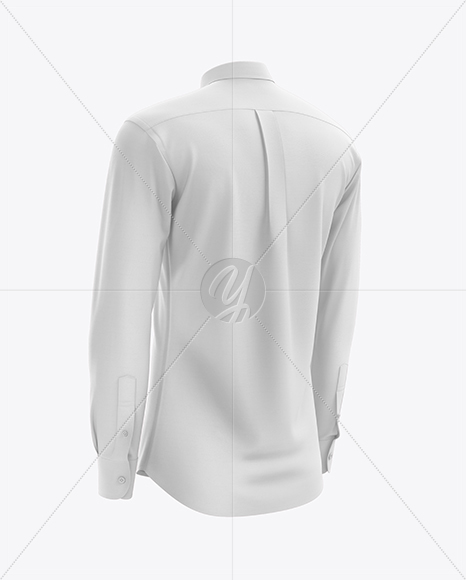 Men's Shirt mockup (Back Half Side View)