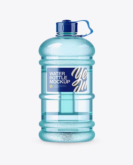 Download 2.2l Gym Water Bottle Mockup Object Mockups