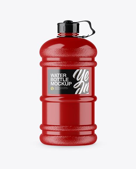 Download Glossy 2.2l Gym Water Bottle Mockup Object Mockups