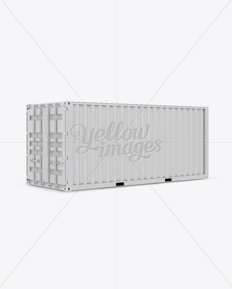 20F Shipping Container Mockup - Halfside View