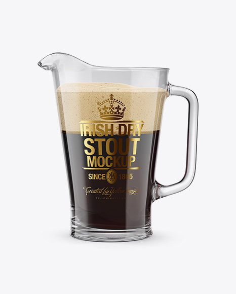 Irish Dry Stout Beer Pitcher Mockup