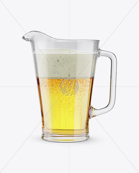 Pilsner Beer Pitcher Mockup