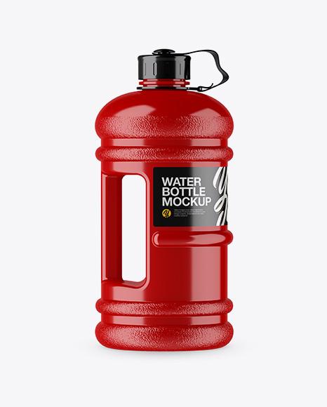 Glossy 2 2l Gym Water Bottle Mockup Side View In Bottle Mockups