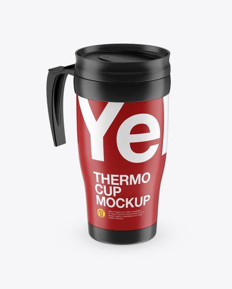 Matte Thermo Cup Mockup (High-Angle Shot)