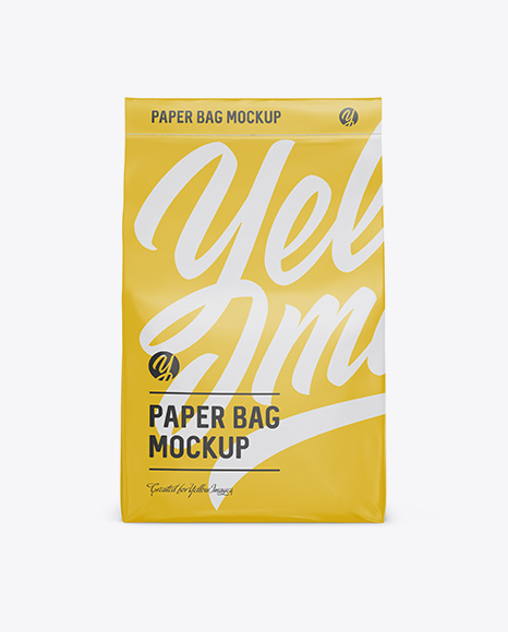 Stitched Paper Bag Mockup - Front View