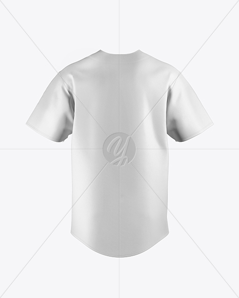 Men's Baseball Jersey Mockup - Back View