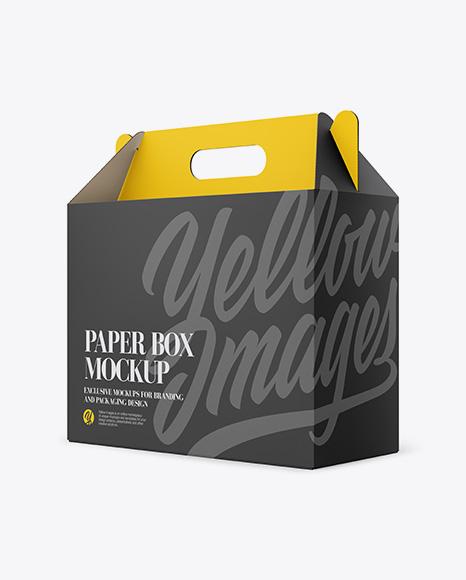 Download Paper Box Mockup - Half Side View Object Mockups