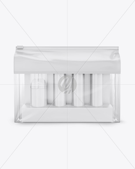Cosmetic Travel Kit Mockup - Front View