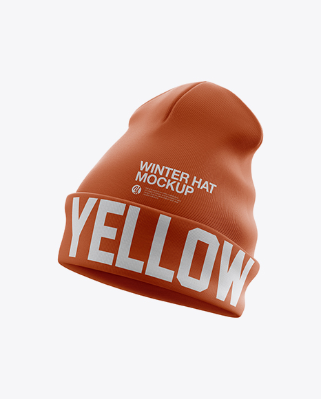 Turn Up Beanie Hat Mockup